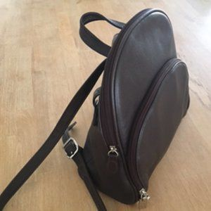 Aurielle Dark Brown Small Leather Backpack (NWOT)